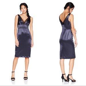 Vera Wang Sleeveless Satin Scuba Crepe Dress